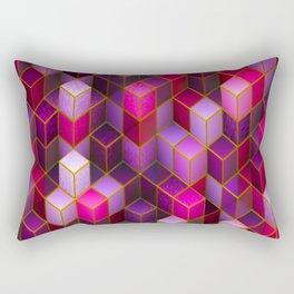 Violet Cubes Rectangular Pillow