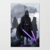 jedi Canvas Prints featuring Jedi Hunters by Yvan Quinet