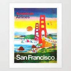 Vintage San Fransisco Poster Art Print