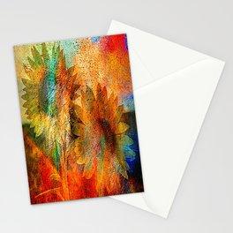 sunflower vintage Stationery Cards