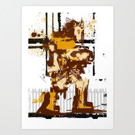 Simon De Belemonte' Splatter Art Print