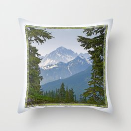 MOUNT LARRABEE FROM HEATHER MEADOWS Throw Pillow