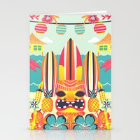 tiki Stationery Cards featuring Tiki by Claire Lordon