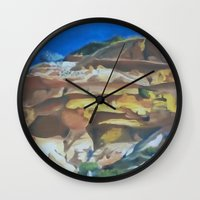 dune Wall Clocks featuring Dune by Ana Rafael