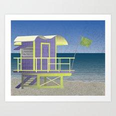 Lifeguard Platform Art Print