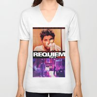 parks and rec V-neck T-shirts featuring Requiem for a Tuesdays Movie Poster (Parks and Rec) by Catofnimes