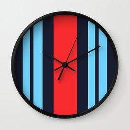 Martini Racing Colours Wall Clock