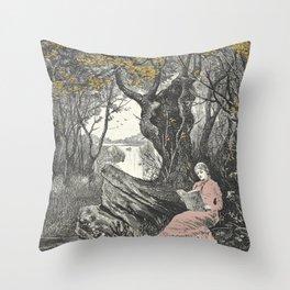 Sweet Bookish Solitude Throw Pillow