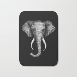 Elephant Head Trophy Bath Mat