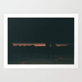 A Picnic At The End Of The World, Manchester Art Print