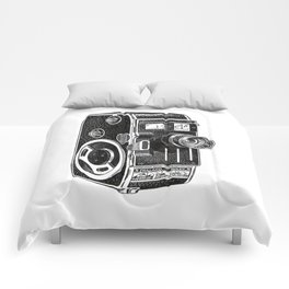 Vintage Cine Camera Comforters