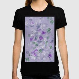 Lavander glow flower power T-shirt