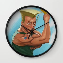 Jean Claude Van Guile - Street Fighter Wall Clock