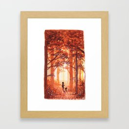 Golden October Framed Art Print