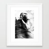 ape Framed Art Prints featuring APE by A-HG