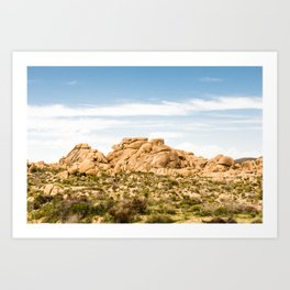 Big Rock 7404 Joshua Tree Art Print