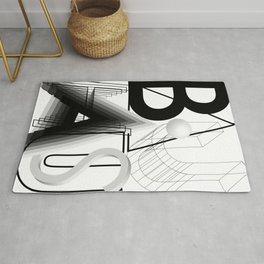 History of Art in Black and White. Bauhaus Rug