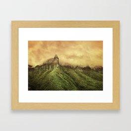 Corvus Peak Framed Art Print