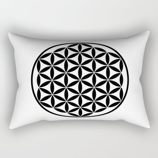 Pure Energy The Flower of Life Rectangular Pillow