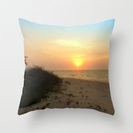 As The Sun Sits Throw Pillow