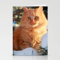 garfield Stationery Cards featuring Winter Garfield  by Lucie