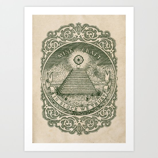 In Block We Trust (Green) Art Print