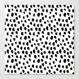 Handdrawn drops and dots on white-Mix & Match with Simplicty of life Canvas Print