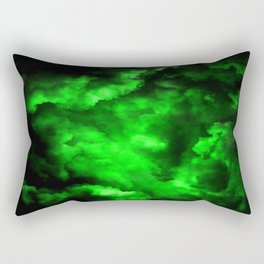Envy - Abstract In Black And Neon Green Rectangular Pillow