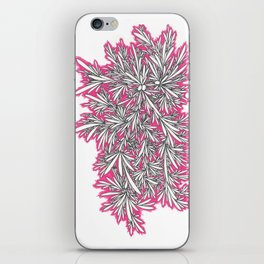 Black Growth with Pink iPhone Skin