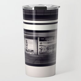 metro long exposure Travel Mug