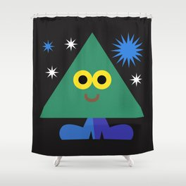 Happy Triangle Shower Curtain
