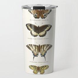 Vintage Butterfly Chart Travel Mug