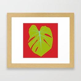 Tropical Leaf - Young Monstera Framed Art Print