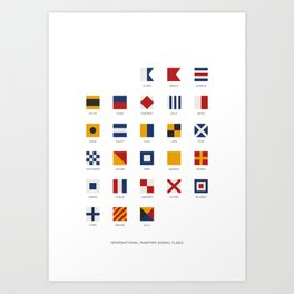 International Maritime Signal Flags Alphabet Art Print