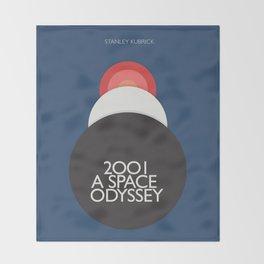 2001 a Space Odyssey, Stanley Kubrick alternative movie poster, dark blue  classic film, cinema love Throw Blanket