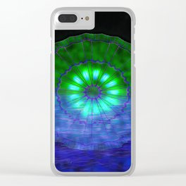 Alien Sanddollar Disc Clear iPhone Case