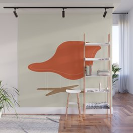 Orange La Chaise Chair by Charles & Ray Eames Wall Mural