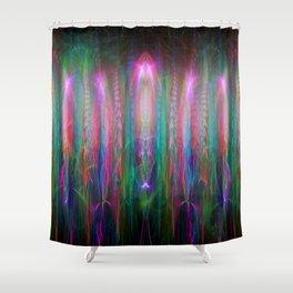 Fractal Angels V Shower Curtain
