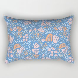 light&line: pastel flower, illustrated pattern in bright, vibrant color. Rectangular Pillow