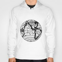 globe Hoodies featuring Globe by Gallymogger Print