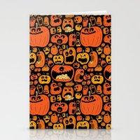 pumpkin Stationery Cards featuring Pumpkin Pattern by Chris Piascik