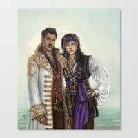 pirates Canvas Prints featuring Pirates by Slugette