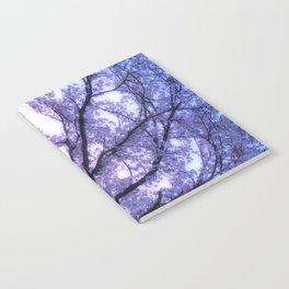 Periwinkle Lavender Flower Tree Notebook