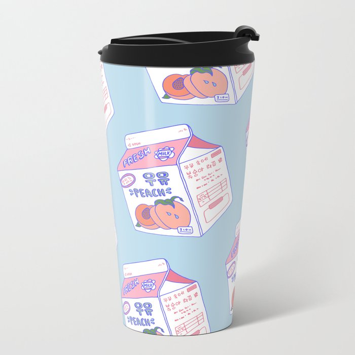 Peach Milk Metal Travel Mug