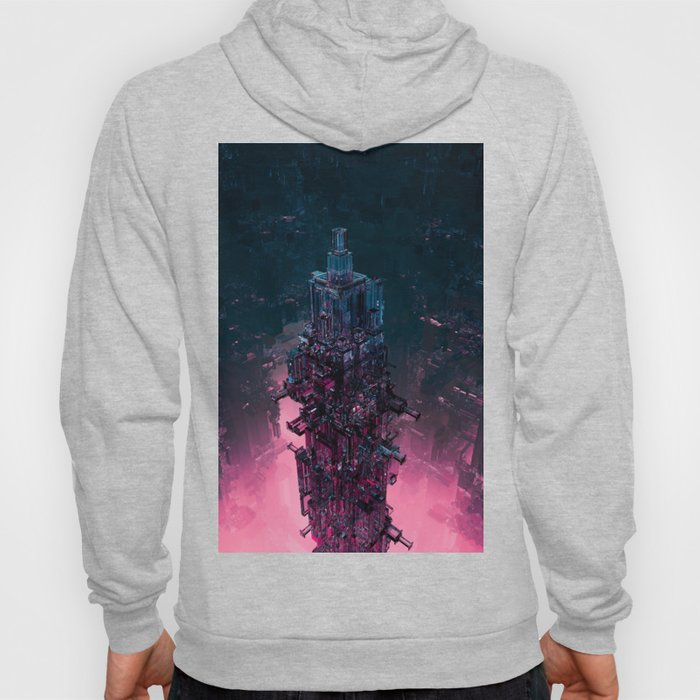 The Technocore / 3D render of futuristic structure Hoody