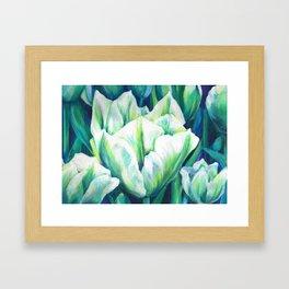 Spring Green Tulips Framed Art Print