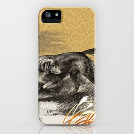 Dog quote: Life is better with a Setter iPhone Case