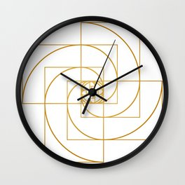 Golden Pinwheel Wall Clock