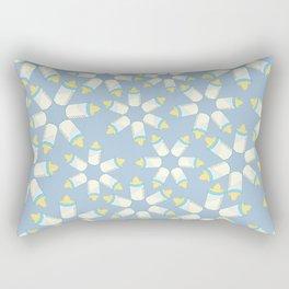 Baby Bottle Blue Pattern Rectangular Pillow
