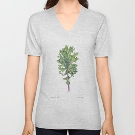 Red Russian Kale Unisex V-Neck